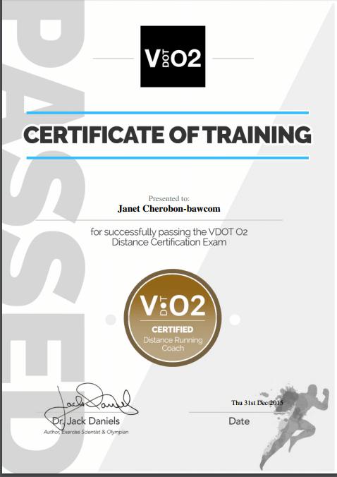 Janet Bawcom Coaching Certificate