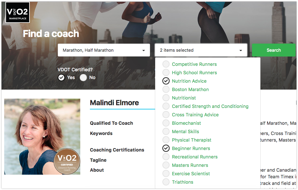 Finding The Right Running Coach - VDOT Marketplace