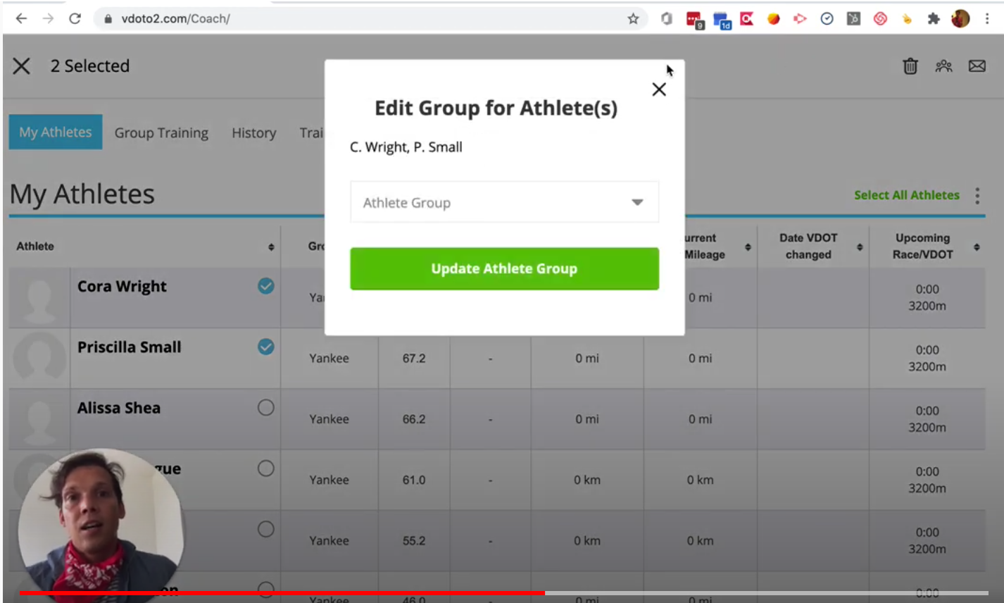 New Feature: Bulk Edit Your Athlete List