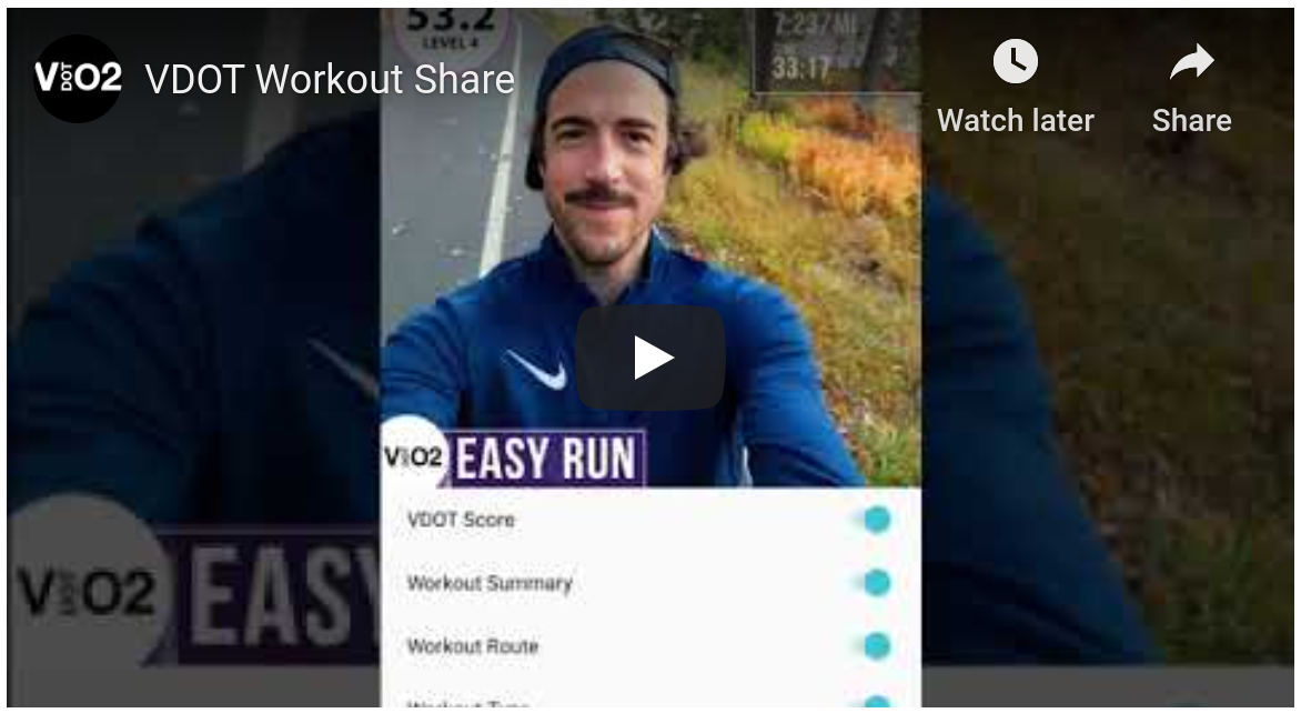 VDOT Workout Share